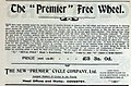 Premier 'Free Wheel' bicycle ad (1899).jpg