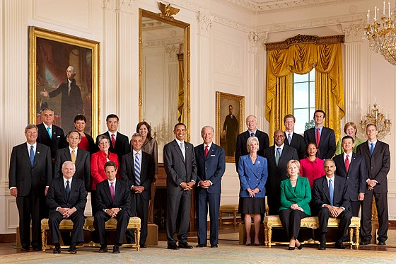 President Barack Obama with full cabinet 09-10-09., From WikimediaPhotos