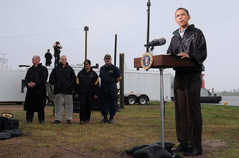 File:President Obama at Lectern in Venice, Louisiana.jpg