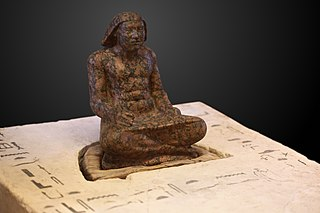 Prince Setka as scribe-E 12629-E 12631