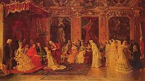 Luis Álvarez Catalá - Image: Princess Borghese Bestowing Dowries by Luis Álvarez Catalá