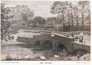 Cookham - Print of Fred Walker's (1840-1875), Our Village (Cookham). Exhibited at the Water-colour Society's Exhibition, London, 1873.