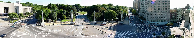 Prospect Park, as seen from the top of the Memorial Arch