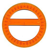 Un rapporteur (disque) - 360 degrés