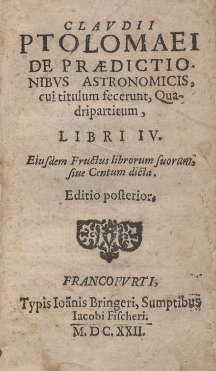 Quadripartitum, 1622