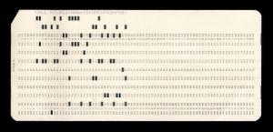 Maestro I -  Punched card