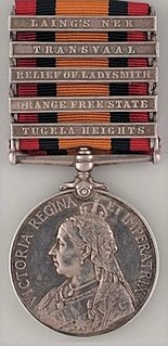 Queens South Africa Medal British Second Boer War medal