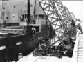 Queensland State Archives 1657 SS Korimoko first bulk loading of wheat at Pinkenba Wharf Brisbane December 1952.png