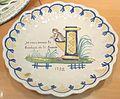 Quimper 55 faïence Assiette selon un décor patriotique de 1791-1792 réalisée fin XIXème Manufacture de la Hubaudière.JPG
