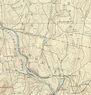 Hanover, Connecticut - Map of Hanover, CT and surrounding areas