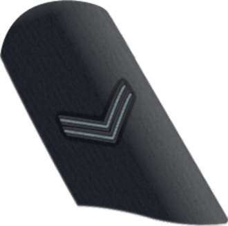 Corporal - RAF corporal as it appears on dress uniform.