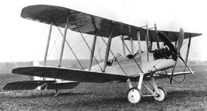 RAF Hornchurch - A Royal Aircraft Factory B.E.2c similar to those that flew from Sutton's Farm in 1915 and 1916