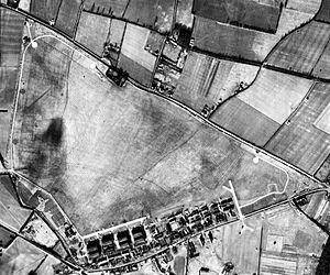 RAF Andover - Aerial photograph of RAF Andover oriented north, 16 January 1947