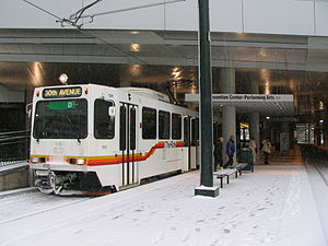 Theatre District–Convention Center station - Image: RTD D Line Convention Center Station