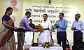 Radha Mohan Singh being presented a memento at the inauguration of the Agricultural Technology Applications Research Institute and laying the foundation stone of its administrative building, in Patna on August 19, 2015.jpg
