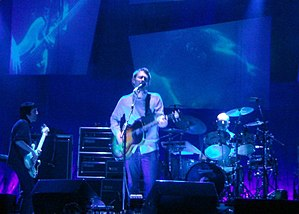 In Rainbows - Radiohead performing live at the Greek Theatre, Berkeley, California, during their 2006 tour. Radiohead used the tour to test songs later recorded for In Rainbows.