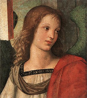 1501 in art - Image: Raffaello Angelo 1 (frammento pala Baronci)
