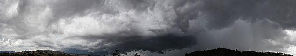 Rain to clear skies panorama