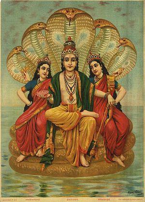 Shesha - Sheshanarayana by Raja Ravi Varma.