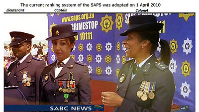 Officers of the South African police force.