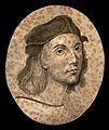 Raphael; portrait. Drawing, c. 1791. Wellcome V0009187.jpg