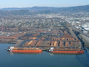 Longview, Washington - Timber for export, Port of Longview, 2008