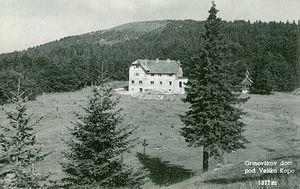 Grmovšek Lodge Below Big Kopa - Postcard of the Grmovšek Lodge Below Big Kopa Peak (1960)