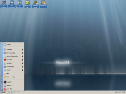 Il desktop di ReactOS v0.3.9