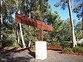 Rear of Angel of the North in Canberra January 2012.jpg