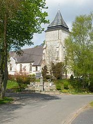 The church of Rebreuve-sur-Canche