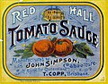 Red Hall Tomato Sauce label (8734617302).jpg