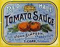 Red Hall Tomato Sauce label (8734617302).jpg