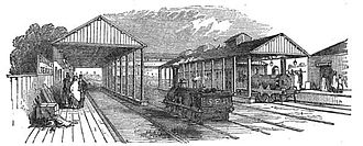 Redhill railway station - Redhill and Reigate station c.1853