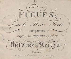 36 Fugues (Reicha) - Cover of the 1805 edition of 36 Fugues.