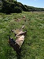 Remains of boat near The Gannel - geograph.org.uk - 875518.jpg