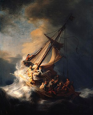 Marine art - Image: Rembrandt Christ in the Storm on the Lake of Galilee