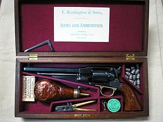 A. Uberti, Srl. - Image: Remington New Model Army Cased Uberti replica Ser A62463