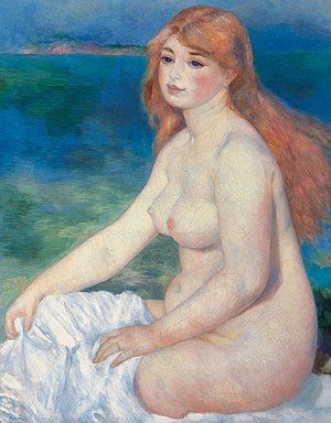 Blonde Bather - Pierre-Auguste Renoir, 1882, La Baigneuse blonde, oil on canvas, 90 x 63 cm, Pinacoteca Agnelli, Turin