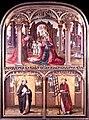 Retablo del Nacimiento de Cristo con Santo Domingo y San Lorenzo (Museo Lázaro Galdiano, Madrid).jpg