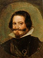Retrato del conde-duque de Olivares, oil on copper, by Diego Velázquez.jpg