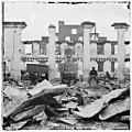 Richmond, Virginia. Ruins of Richmond & Petersburg Railroad depot. (Destroyed locomotive shown) LOC cwpb.02710.jpg