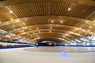 Glued laminated timber - Richmond Olympic Oval intern view