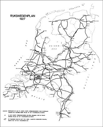 Roads in the Netherlands - The 1927 Rijkswegenplan was the first Dutch national highway structure plan in a century.