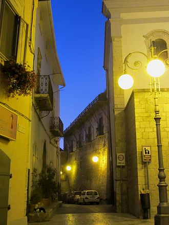 Ripacandida - Ripacandida, Italy, evening view of street