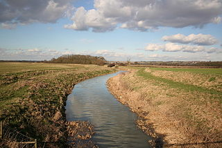 River Brant river in Lincolnshire, United Kingdom