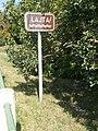 River sign, Route 150, 2017 Mosonmagyaróvár.jpg