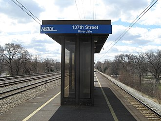 Riverdale station (Illinois) - Image: Riverdale Metra Station