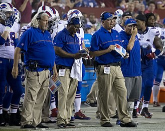 Rob Ryan - Ryan (left) with the Bills in 2016