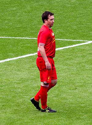 Robbie Fowler - Robbie Fowler during Steven Gerrard's testimonial on 3 August 2013.