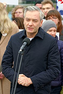 Robert Biedroń Polish politician and LGBT activist.